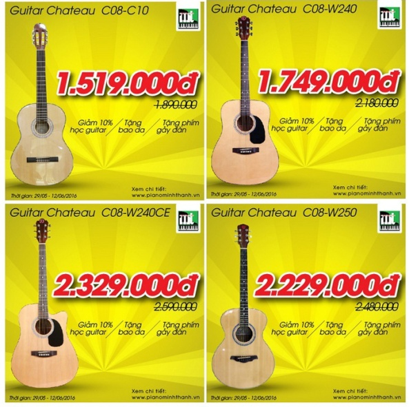 Khuyến mãi giảm giá các loại đàn guitar, organ cực sốc